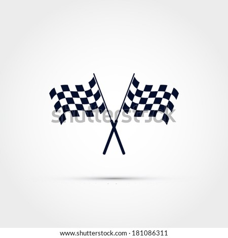 Race flag vector - stock vector