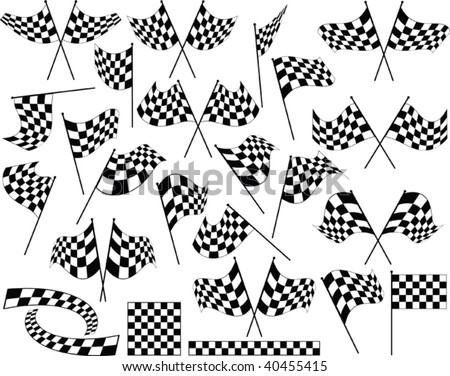Race Flag : Vinyl Ready - stock vector