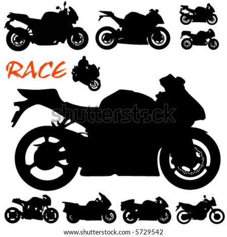 race motorcycle vector - stock vector