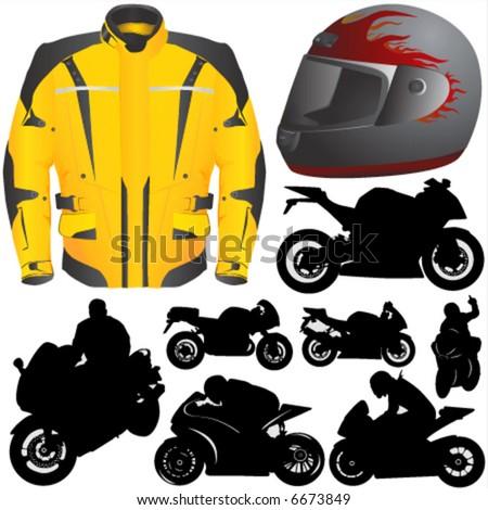 race motorcycle vector 2 - stock vector