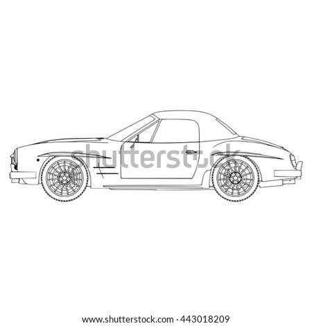 Hand Drawn Sketch Car Abstract Vector Stock Vector