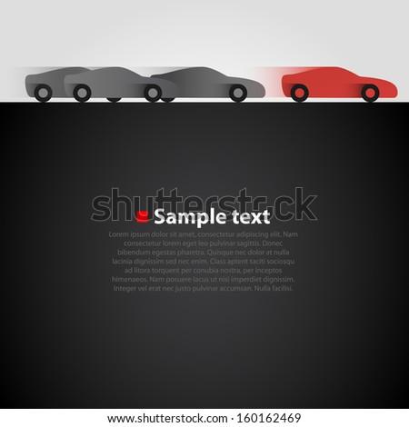 Race vector background. - stock vector