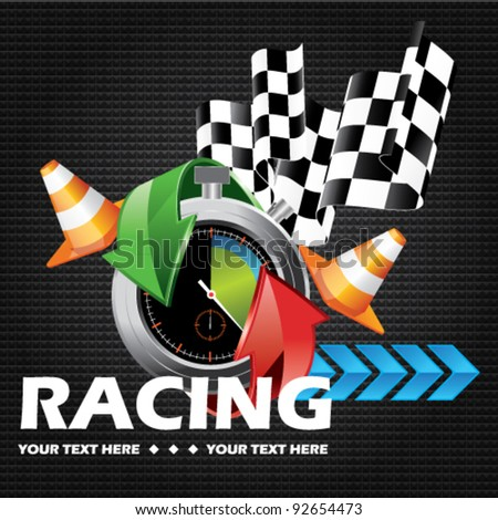 Racing - stock vector