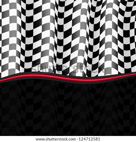 Racing Background. Checkered Flag. Vector eps10 - stock vector