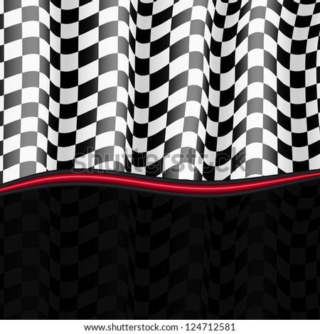 Racing Background. Checkered Flag. Vector eps10 - stock vector