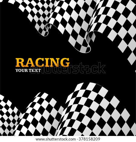 Racing Background with Space for Your Text. Vector illustration - stock vector