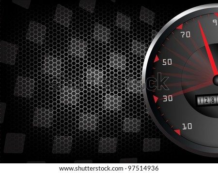 Racing background with tachometer - stock vector