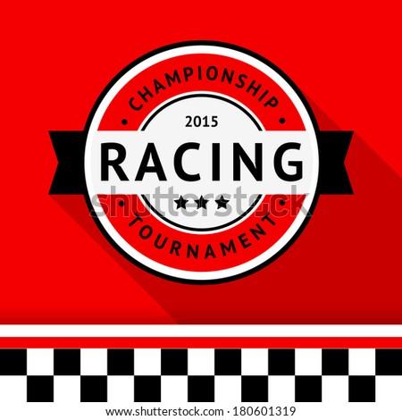 Racing badge 04, vector illustration - stock vector