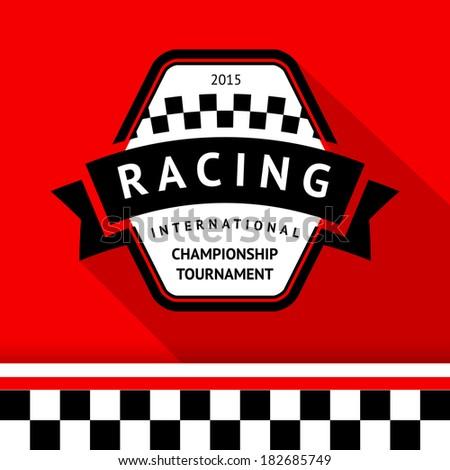 Racing badge 05, vector illustration - stock vector