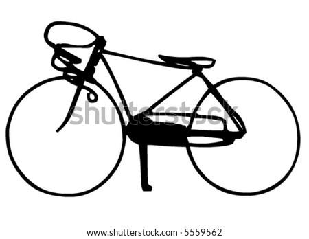 Racing bicycle - stock vector