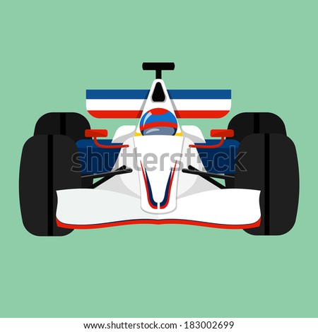 racing car- flat illustration  - stock vector