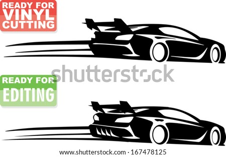 racing car silhouette with  Race Car Silhouette