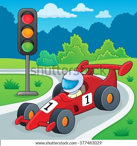 Racing car theme image 2 - eps10 vector illustration. - stock vector