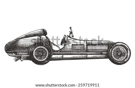 racing car vector logo design template. transport or vehicle icon. - stock vector