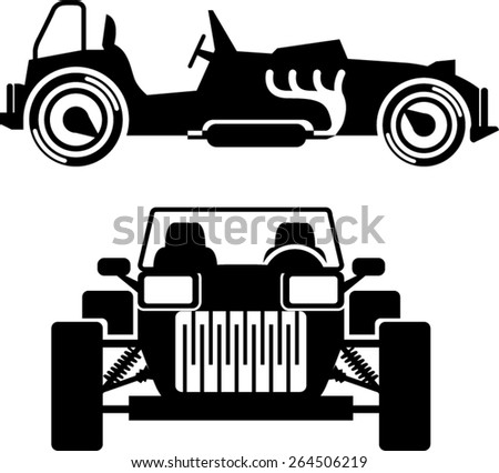 Racing car vintage - stock vector