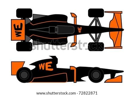 Racing car with current aerodynamic design - stock vector