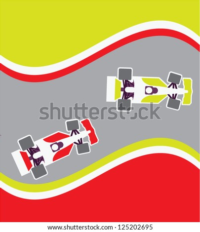 Racing cars - stock vector
