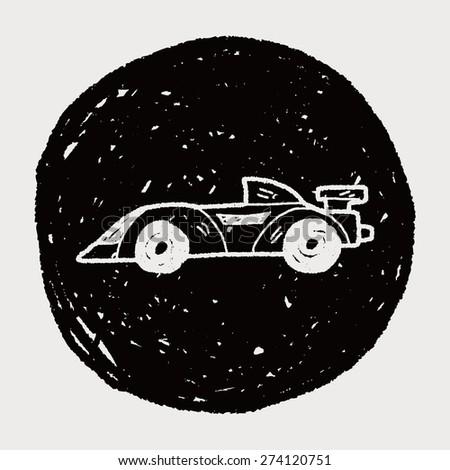 racing doodle - stock vector