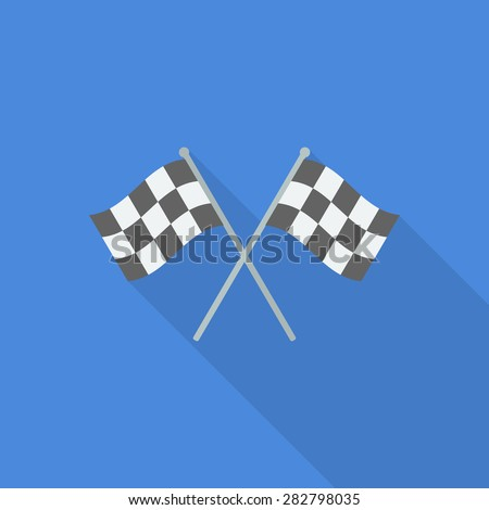 racing flag icon - stock vector