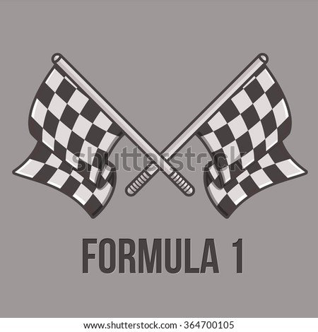 Racing flags isolated on light background. Speed flags for web sites, falyers and printing.