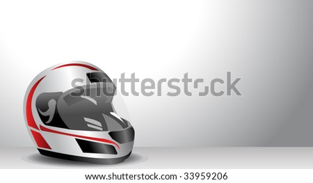 racing helmet - stock vector