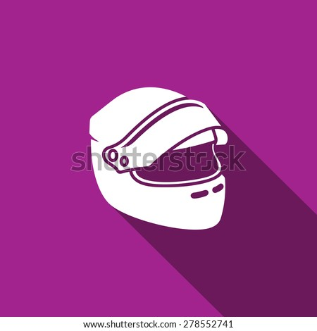 Racing helmet icon. Vector Illustration - stock vector