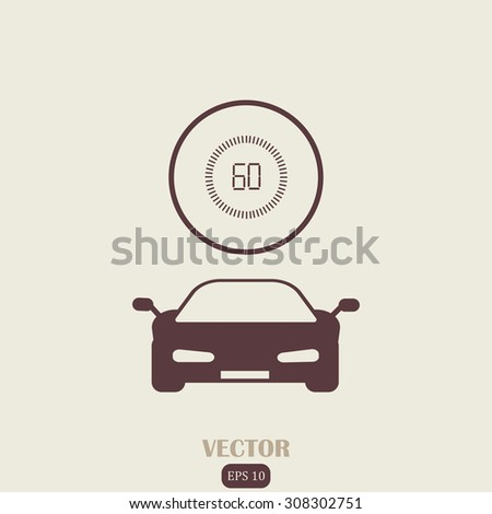 Racing on time - stock vector