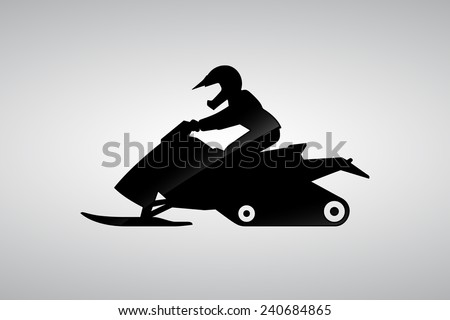 racing pictogram, snowmobile - stock vector
