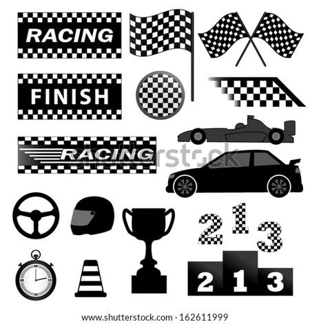 Racing set - stock vector