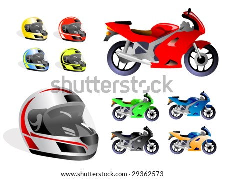 racing set - stock vector