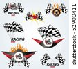 racing set - vector signs - stock vector
