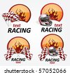 racing signs - stock vector
