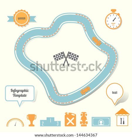 blank race track template