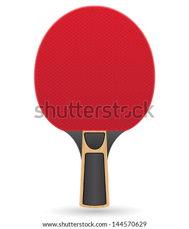 racket for table tennis ping pong vector illustration isolated on white background - stock vector