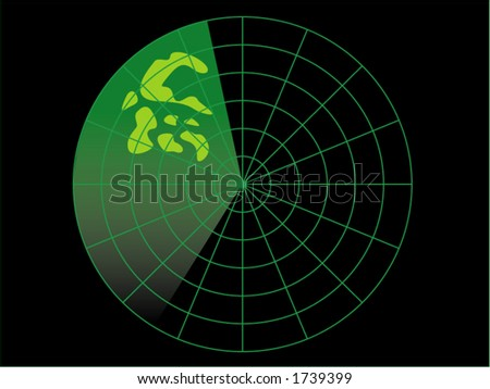 Radar image. - stock vector