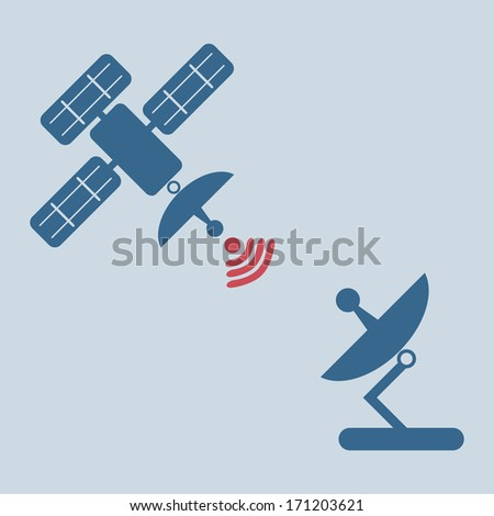 Radar satellite dish  � Vector illustration - stock vector