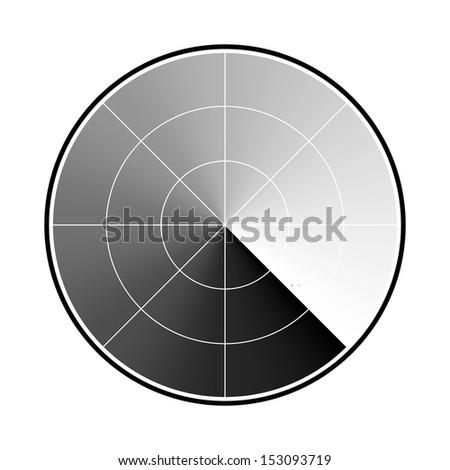 radar screen - stock vector