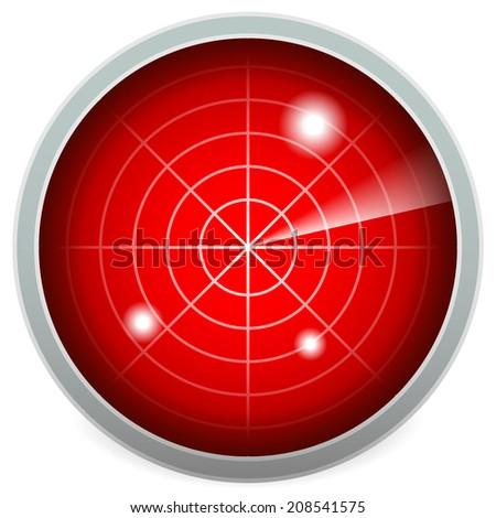 Radar screen vector - stock vector
