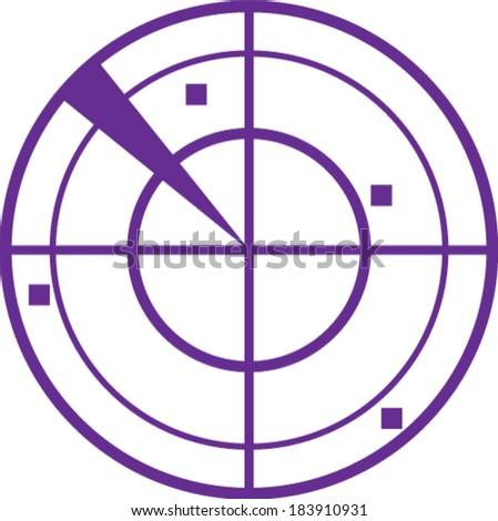 Radar simple vector - stock vector