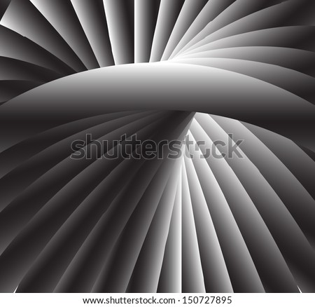 Radial light and ground Background - stock vector
