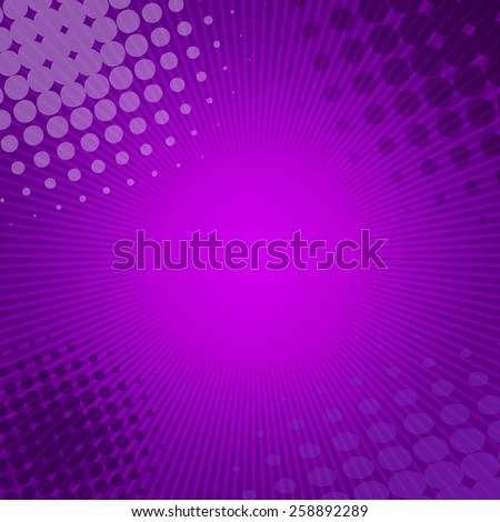 Radial Speed Lines graphic effects for use in comic. - stock vector