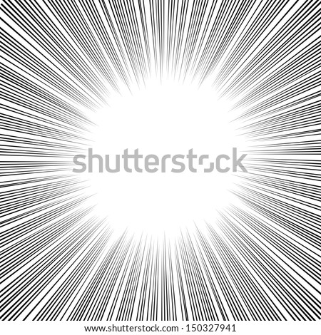 Radial Speed Lines graphic effects for use in comic books, manga and illustration - stock vector