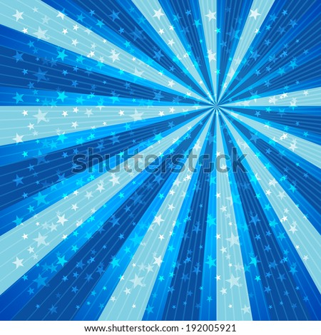 Radial Speed Lines Star Background. - stock vector