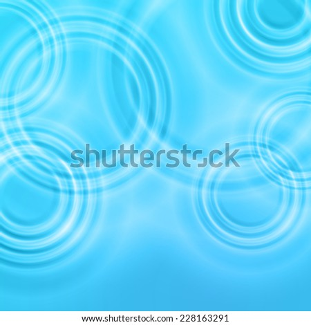 Radial waves from a rain on water; Eps10 - stock vector