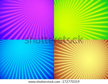 Radiating, converging lines, rays background. Known as star burst, sunburst background. Vector illustration.