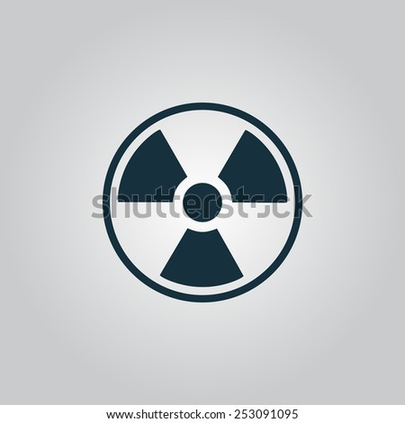 Radiation Flat web icon, sign or button isolated on grey background. Collection modern trend concept design style vector illustration symbol - stock vector
