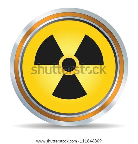 Radiation icon in vector - stock vector