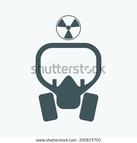 radiation mask icon - stock vector