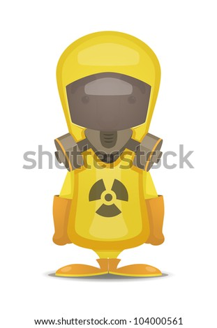 Radiation Protection Suit - stock vector