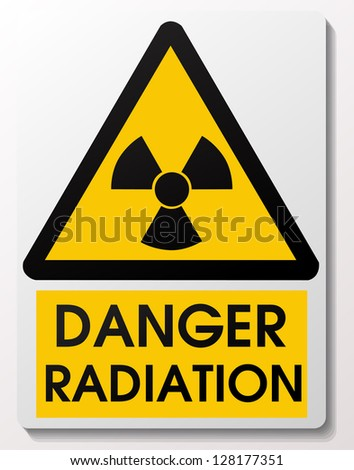 Radiation sign - stock vector